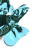 Water Splash 3D Render Stock Photo