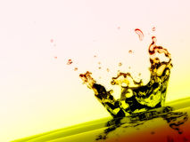 Water splash and droplets Royalty Free Stock Photos