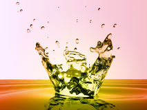 Water splash and droplets Royalty Free Stock Photo