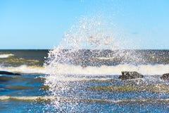 Water splash effect stock image