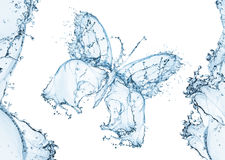 Water splash in the form of a butterfly Royalty Free Stock Photo