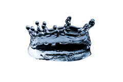 Water splash in the form of a crown isolated on a white background Royalty Free Stock Photography