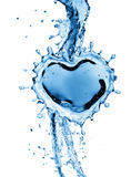 Water splash in the form of a heart. Royalty Free Stock Images