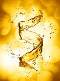 Water splash in the form of spiral gold color. 3D illustration Royalty Free Stock Image