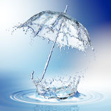 Water splash in the form of a umbrella. Royalty Free Stock Photography