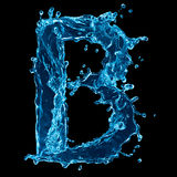 Water Splash Forming Letter B Stock Photography
