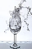 Water splash into a glass Stock Image