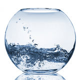 Water splash in glass aquarium Royalty Free Stock Photography