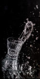 Water splash in glass. Stock Image