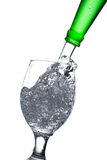 Water splash in a glass Stock Photography
