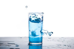 Water splash in glass isolated Royalty Free Stock Image