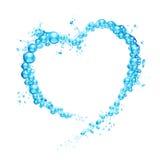Water Splash Heart. Illustration of water splash forming heart shape