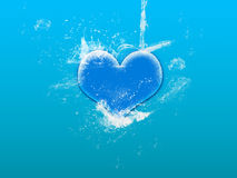 Water splash on heart Royalty Free Stock Image