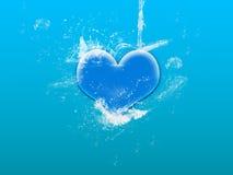 Water splash on heart Royalty Free Stock Image
