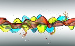 Water splash illustration on white background. Water splash 3D illustration on white background vector illustration
