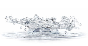 Water splash isolated on white. Stock Photo