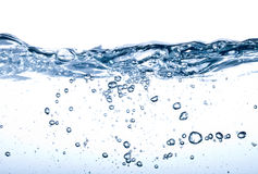 Water splash isolated on white. Background royalty free stock photography