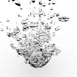 Water splash. Isolated on white vector illustration