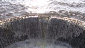 Water splash in  lake dam Stock Image