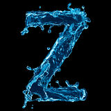 Water splash letter zed Stock Photo