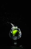 Water Splash lime Stock Photo