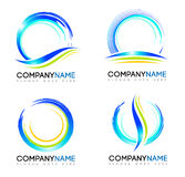 Water Splash Logo. An illustration representing an abstract water splash logo set with swashes Stock Image