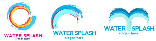 Water splash logo Stock Image