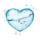 Water Splash Love Heart Royalty Free Stock Photography
