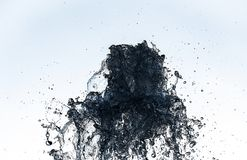 Water splash macro photo motion color move abstract background. Isolated wave royalty free stock photo