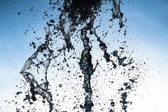 Water splash macro photo motion color move abstract background. Isolated wave royalty free stock photos