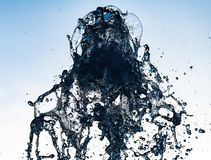 Water splash move nature light abstract close up. Macro stock photos