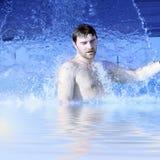 Water splash on nan body Stock Images