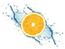 Water splash and orange Stock Photo