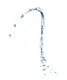 Water splash over white background Royalty Free Stock Photography