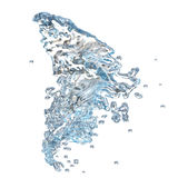 Water splash over white Royalty Free Stock Image