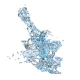 Water splash over white Stock Photo
