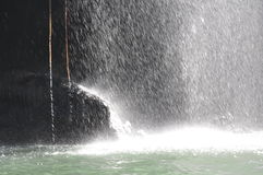 Water splash on the river Stock Photo