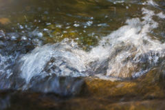 Water splash in river and sunlight on surface for nature backgro Royalty Free Stock Images