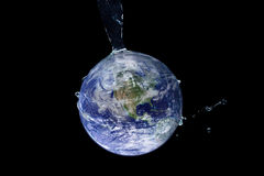 Water Splash Series - Hydrated Earth Stock Images