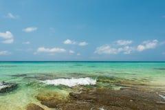 Water splash and shore break Royalty Free Stock Photo