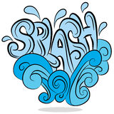 Water Splash Sound Effect Text Royalty Free Stock Image