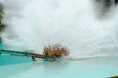 Water splash. Splashes of water. water spreads across when a roller coaster hits its front in water Stock Photos