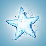 Water splash star Stock Photo