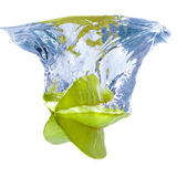 Water splash with star fruit Stock Photography