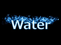 Water splash text Royalty Free Stock Images