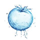 Water splash tomato Stock Photography