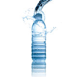 Water splash on water bottle Royalty Free Stock Photo