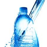Water splash on water bottle Royalty Free Stock Photos
