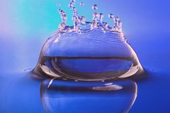Water splash for wellness, spa royalty free stock photos