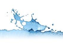 Water Splash On White Stock Image